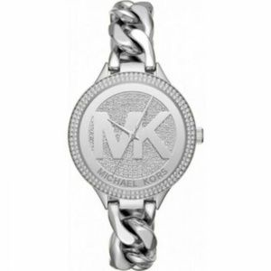 ***  Michael Kors Women's Runway Silver Tone Watch